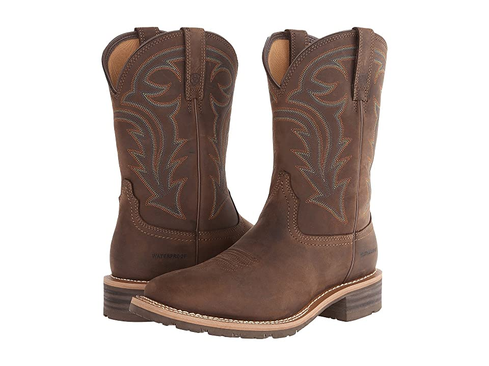 Ariat Hybrid Rancher Waterproof (Oily Distressed Brown) Cowboy Boots