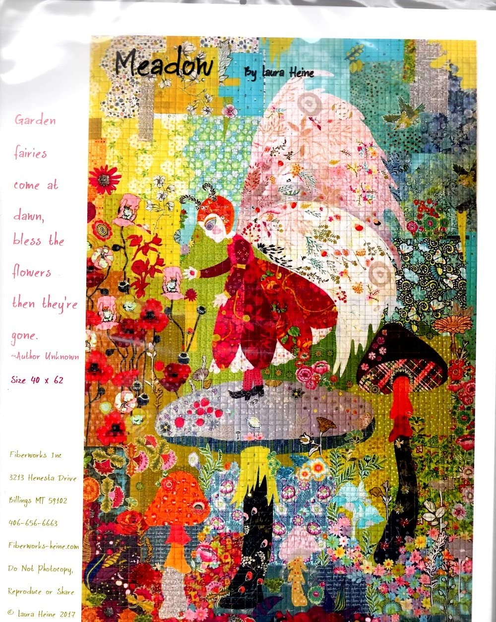 Meadow the Fairy Oakland Mall Collage Applique Quilt Laura quality assurance Heine by Pattern f