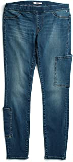 Tommy Hilfiger Adaptive Women's Seated Fit Jegging Jeans with Velcro and Adjustable Hems, Medium wash