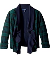 Polo Ralph Lauren Kids - Tartan-Print Fleece Cardigan (Little Kids/Big Kids)