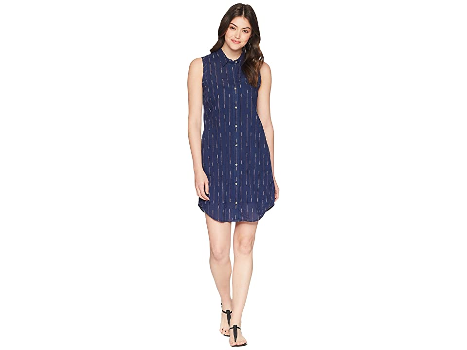 Toad&Co Indigo Ridge Sleeveless Dress (Medium Indigo Arrow Print) Women