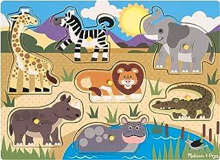 Melissa & Doug | Puzzle En Bois À Boutons - Safari | Puzzle | 2+ years