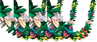 Fun Express Tissue Flower Garland, Various Colors, (IN-3/369), (4 Pack)