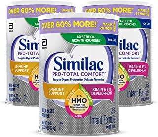 Similac Pro-Total Comfort Non-GMO with 2'-FL HMO Infant Formula with Iron, Easy-to-Digest, Gentle Formula, For Immune Supp...