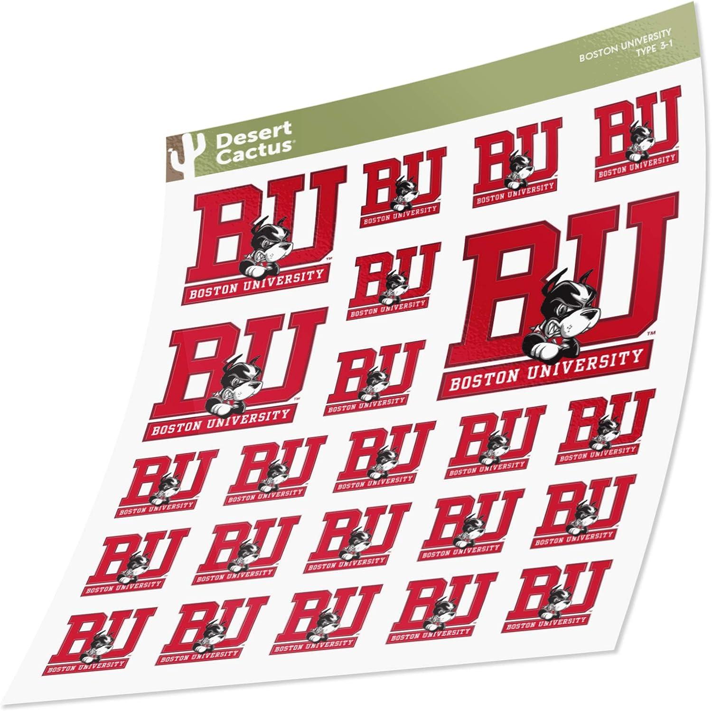 Boston University Terriers BU Sticker Vinyl Decal Laptop Water Bottle Car Scrapbook (Sheet Type 3)