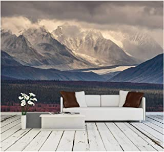 wall26 - Fall Photograph of Mountains and Receding Glaciers - Removable Wall Mural | Self-Adhesive Large Wallpaper - 100x144 inches