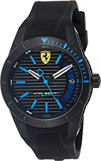 Ferrari RedRevT Men's Black Dial Rubber Band Watch - 830427