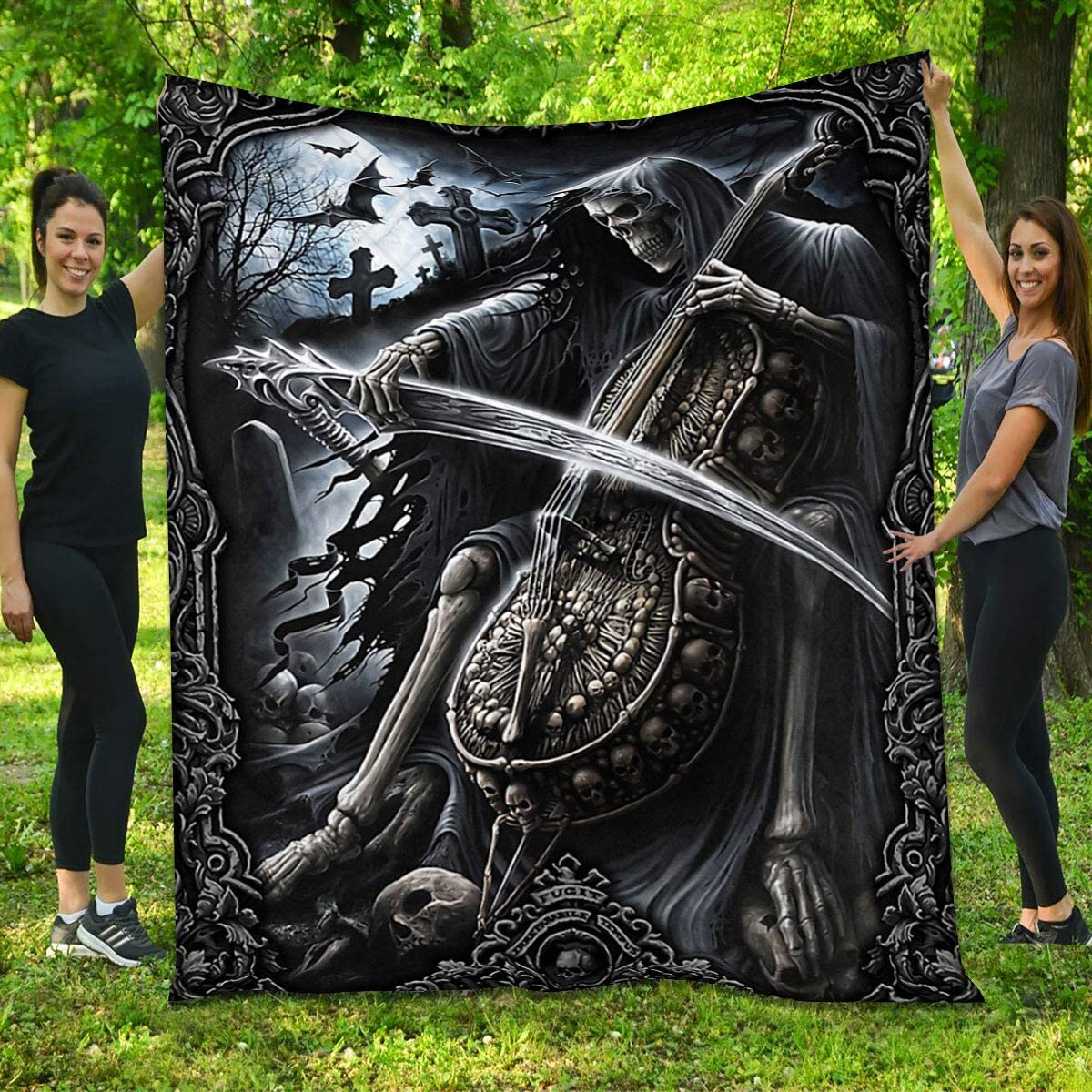 Quilt Regular discount for Skull Cello - Gifts Halloween Music from Ranking TOP11 Mom