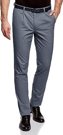 oodji Ultra Homme Pantalon Léger en Coton