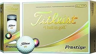 TITLEIST(タイトリスト) ゴルフボール Prestige 3ピース 12個入り ゴールドパール  T5023S-J
