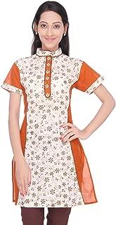 Women's Handloom & Hand block printed Cotton Kurti