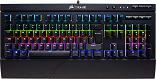 Corsair K68 RGB Tastiera Meccanica Gaming Cherry MX Red, Lineare e Veloce, Retroilluminato RGB LED, Resistente all'Infiltr...