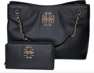 Tory Burch Britten Triple Compartment Tote bundled with Tory Burch Britten Zip Continental Wallet