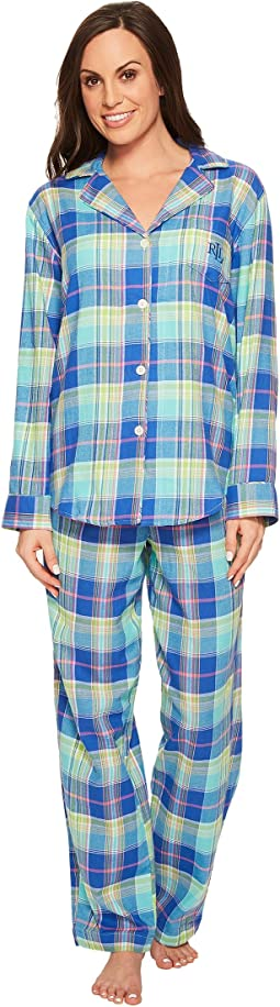 LAUREN Ralph Lauren - Brushed Twill Pajama
