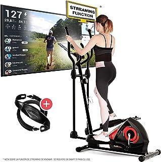 Ruedas de transporte. Monitor LCD Freno combinado magn/ético y aire BH Fitness Cross3000 Dual WG880 bicicleta el/íptica