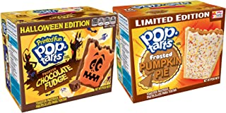 Fall Tarts Halloween Pop Frosted Chocolate Fudge Limited Edition & Pop-Tarts Pumpkin Pie Toaster Pastries 2 pack