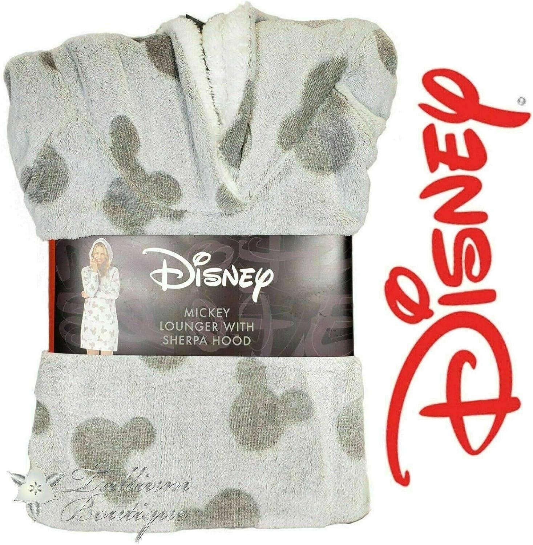 NWT!! Disney Womens Fleece Lounge Hoodie with Sherpa Hood Mickey Mouse