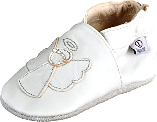 Lappade Chaussures Cuir Souple pour bébé Enfant Fille Garçcon avec Semelle en Daim