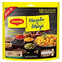MAGGI Masala-ae-Magic Vegetable Masala, 72g Pouch (6g x 12 Sachets) | All in One Masala for Dry Vege