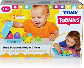 TOMY 30693081 Hide & Squeak Bright Chicks Nesting Eggs Toy