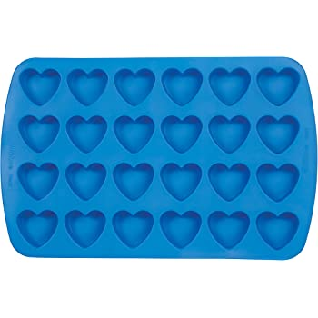 Wilton Easy-Flex Silicone Heart Mold, 24-Cavity for Ice Cubes, Gelatine, Baking and Candy