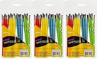 DARICE 1181-79 24-Piece Kids' Paint Brush Assortment (3 Pack), Natural