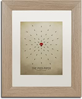 Pied Piper by Christian Jackson, White Matte, Birch Frame 11x14-Inch