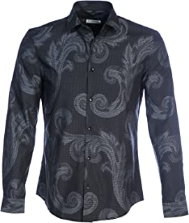 Versace Collection Baroque Print Shirt in Grey