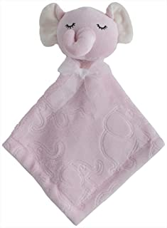 Kyle & Deena Baby Elephant Security Buddy Blanket (Light Pink)