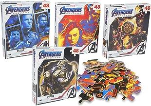 Avengers Endgame 48 Piece Jigsaw Puzzle Set of 4 - Thanos, Captain Marvel, Hulk, Thor, Captain America, Doctor Strange and Antman