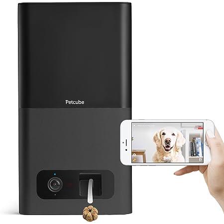 Petcube(ペットキューブ) [正規代理店品] Petcube Bites ペットと会話しおやつを与えられる見守りカメラ Amazon Dash Replenishment対応 カーボンブラック