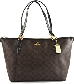 AVA Leather Shopper Tote Bag Handbag