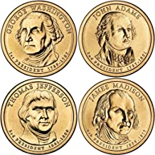 2007 P Presidential Dollar 2007 P Complete Set of all 4 Presidential Dollars Uncirculated Uncirculated