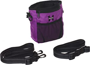Dog Treat Bags – Treat Training Pouches for Small, Medium and Large Dogs with Built-In Poop Bag Dispenser, Waist and Shoulder Reflective Straps and Belt Clip - Puppy and Adult Dog Treats Tote Bags
