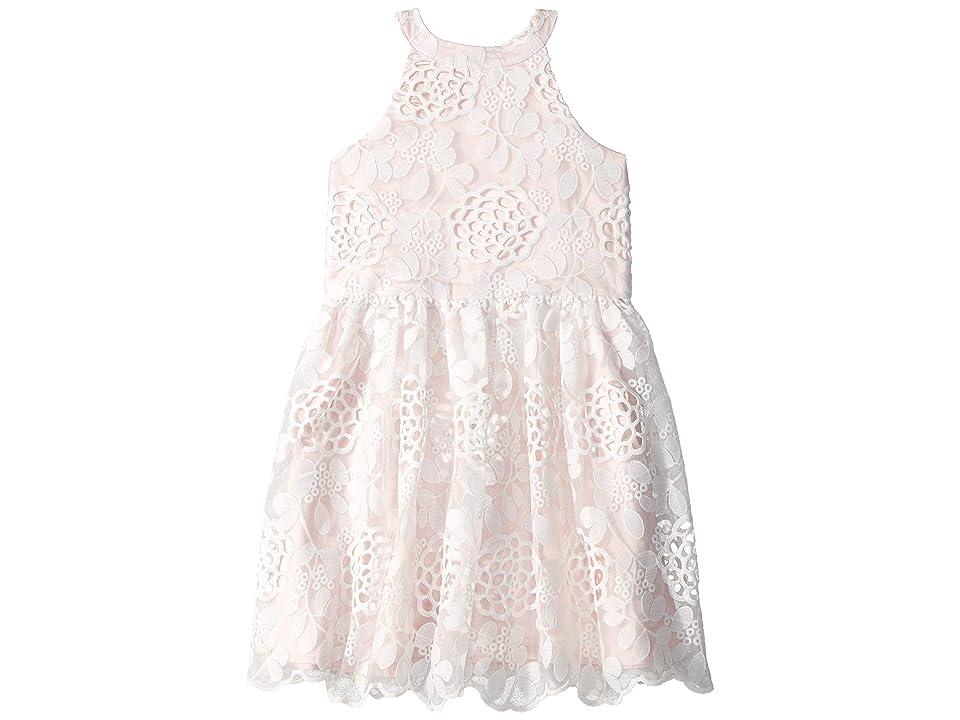 Bardot Junior Primrose Lace Dress (Big Kids) (Orchid White) Girl