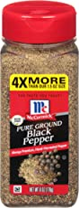 McCormick Pure Ground Black Pepper, Value Size, 6 oz