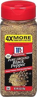 McCormick Pure Ground Black Pepper, Value Size, 6 oz