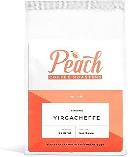 Peach Coffee Roasters - Medium Roast - Yirgacheffe, Ethiopian Single-Origin Fair Trade Whole Coffee Beans - Heirloom - 12 oz.