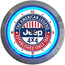 neon jeep sign