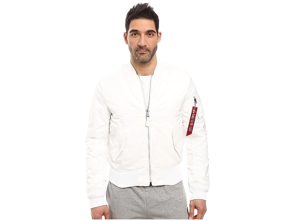 Image of Alpha Industries MA-1 Slim Fit Flight Jacket (White) Men's Coat