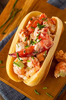 Maine Lobster Roll Kit for 6 - Includes 1.5 lbs of Fresh cooked Maine Lobster Meat, 6 New England style Rolls, Hellmann's ...