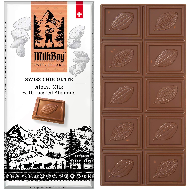 5% OFF Milkboy San Antonio Mall Swiss Almond Chocolate Bars Alpine Premium Milk -