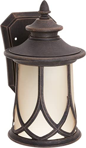 wholesale Progress Lighting P5987-122 Transitional One Wall Lantern from Prairie outlet sale popular Collection in Bronze/Dark Finish Lighting Accessory outlet sale