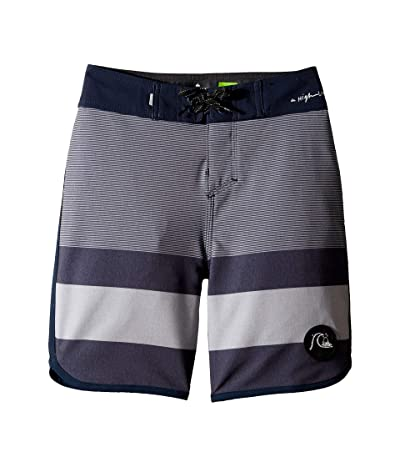 Quiksilver Kids Highline Tijuana 17 Boardshorts (Big Kids) (Navy Blazer) Boy