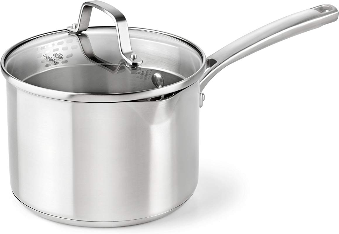 Calphalon Classic Stainless Steel Cookware Sauce Pan 3 1 2 Quart