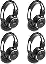 4 Pack of Wireless Infrared Two-Channel Foldable Headphones Universal Rear Entertainment..