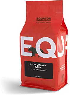 Equator Coffees & Teas Snow Leopard Blend, Roasted to Order and Fine Ground for Espresso or Moka Pot, 12 Ounce Bag