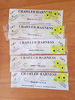 3 R'S Tackle Set of 5 Crawler Harness's 3 Hook 12 inch New