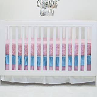 Pam Grace Creations 2 Piece Peacock Basics Crib Bedding Set, Aqua