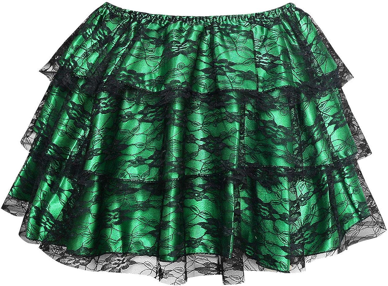 KILLREAL Women's Vintage Jacksonville Mall Ruffle Lace Skirt Satin Tutu Tampa Mall Dancing Pe